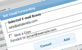 email manager forwarding